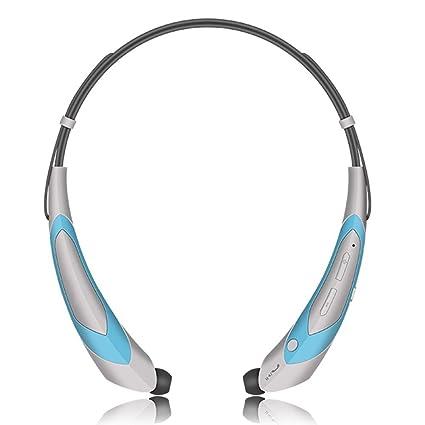 1067beb149b Wireless Bluetooth Headphones Bluetooth 4.1 Music Stereo Headset Earphones  with Microphone Vibration Neckband Sports Style Blue