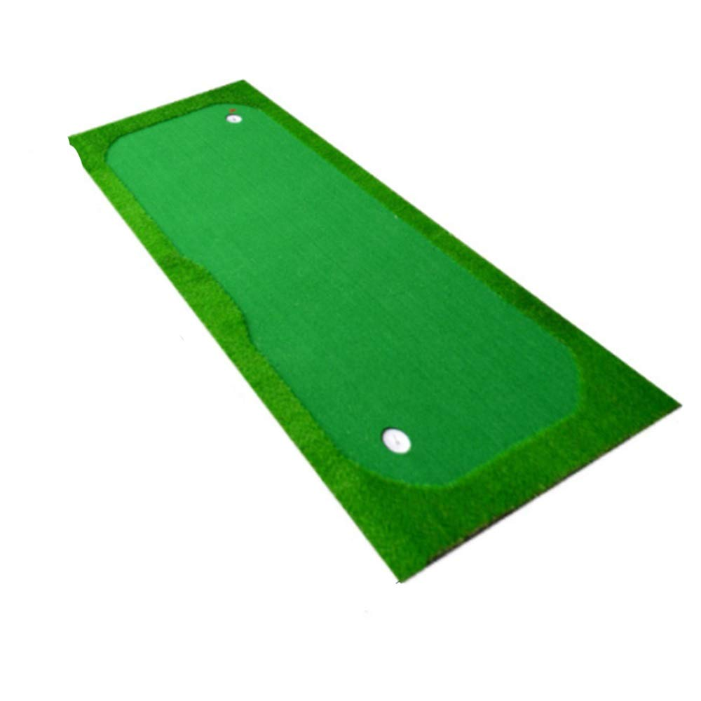 ゴルフ用品 屋内ゴルフパッティンググリーンポータブルグリーンゴルフパッティングマットプロの練習グリーンゴルフシミュレータトレーニングマット援助機器 スポーツ用品 緑 1.5*3