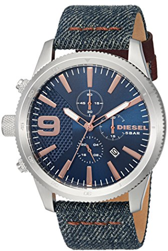 Diesel Men's DZ4450 Rasp Chrono Blue Denim Watch