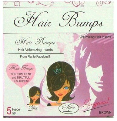 5 Pack Hair Bumps Brown 288 pcs sku# 1161375MA by DDI