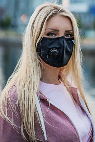 Easy Breathe Pollution Mask Ultra Soft Cotton Adjustable & Reusable With Four N99 Mask Replacement Filters | Anti Pollution N99 Filter Respirator Mouth & Face Mask For Men & Women by Keklle (Image #3)