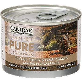 Canidae Grain Free Pure Elements Chicken, Turkey & Lamb Canned Cat Food, 5.5 oz. by CANIDAE