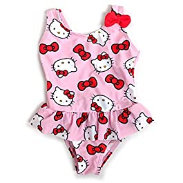 Girl Disney Hello Kitty Swimsuit Swimming Costume Months 24-36 Months 2-3 Years Pink