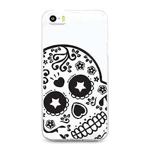 TPU Case for iPhone 5/5s - Death Sugar Skull (White)