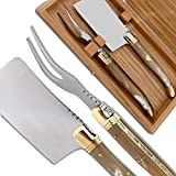 Laguiole Cheese knife set blonde Horn Handle direct from France
