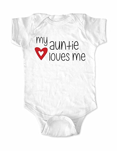 Amazon My Auntie Loves Me Cute Funny Baby Shower Gift Birth
