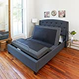 Classic Brands Adjustable Comfort Adjustable Bed Base with Massage, Wireless Remote and USB Ports, Queen