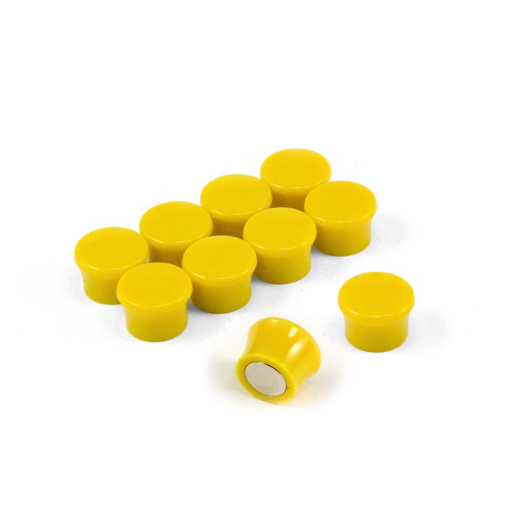 Magnet Expert® Small High Power 'Memo' Board Magnets - Yellow (1 Pack of 10) Magnet Expert® F4M18Y-1