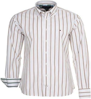 Tommy Hilfiger Camisa de Hombre Estampada: Amazon.es: Ropa y accesorios