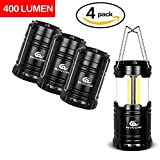WINOW 4 Pack LED Camping Lantern Flashlights Camping Equipment - Outdoor Portable Led Lantern for Emergency,Hurricane,Outage,Storms,Collapsible