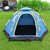 iMeshbean Outdoor 6 Person Large Family Instant Hiking Camping Tent + 8PCS Camping Cookware Set -All in 1 Kit, Easy to Set Up USA For Sale