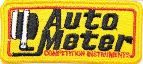 Auto Meter Logo Sign Sponsor Motorsport Racing Race Biker Car Motorcycle Team Patch Iron on Applique Embroidered T shirt Jacket Costume BY ()