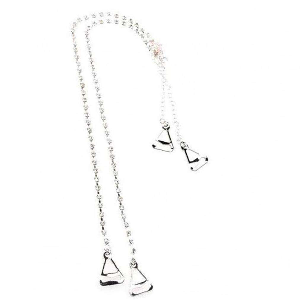 Rhinestone Bra Strap Crystal Silver Lingerie Shoulder Straps Elegant Dress Accessories for Women