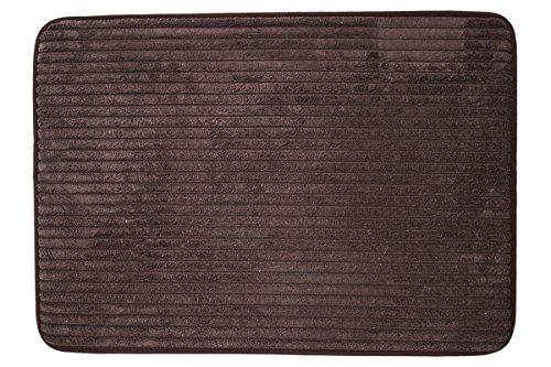DiB TMF050-1000/102 Tapete de Entrada Memory Foam Lines Chocolate Claro, 50 x 70