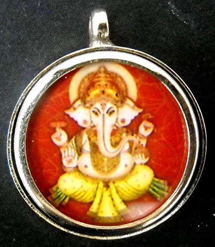 Lord Ganesha Hindu God Pendant German Silver Attractive Religious Size - -