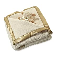 Cloud B Sherpa Blanket Set W/Sheep Rattle Gift Set, Beige