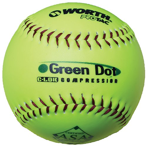 Worth Sports Pro Tac Hot Dot W00590712 Softball 11'' 52/300, Yellow by Worth