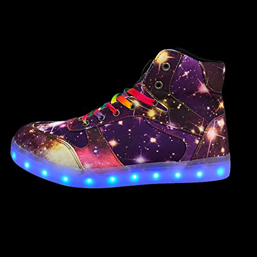 DAYOUT LED Light up Shoes Flashing Sneakers Dance Shoes Fashion Sneaker for Men Women Unisex for Party and