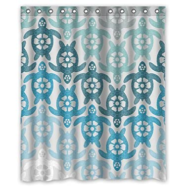 Yestore Superior Custom Sea Turtle WaterProof Polyester Fabric 60  x 72  Shower Curtain