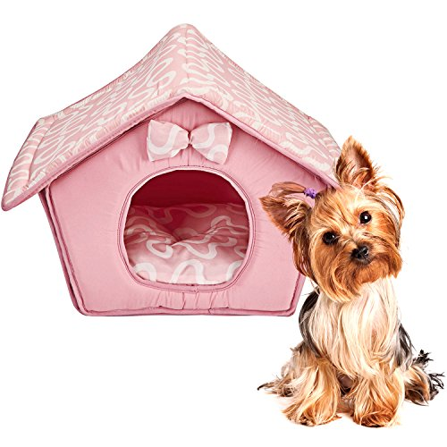 Tent Bed for Pets, Self-Warming Memory Foam House for Dogs and Cats. Indoor Pet Bed House (Soft Tent)