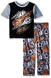 Komar Kids Boys' Big Short Sleeve 2 Piece Pajama Set, Sports, XSmall