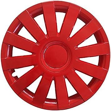 Eight Tec Handelsagentur Größe Wählbar 13 Zoll Radkappen Radzierblenden Agat Rot Passend Für Fast Alle Fahrzeugtypen Universal Auto