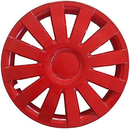 Radzierblenden AGAT Rot passend f/ür fast alle Fahrzeugtypen 15 Zoll Radkappen Gr/ö/ße w/ählbar universal