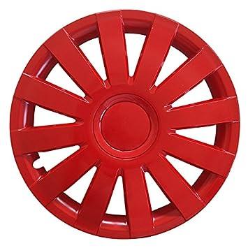 (tamaño a elegir) Tapacubos/Tapacubos Agat Rojo Apto para Casi Todos Los Tipos de vehículos (universal): Amazon.es: Coche y moto