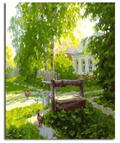 Superlucky Picture Painting Painting Painting by Numbers DIY Digital Canvas Oil Painting Home Decor of Landscape Real Life 40x50cm Mit Rahmen B07JC5GR2Q | Optimaler Preis