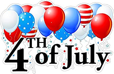 Fourth Of July Static Cling Window Decals Removable and Reusable 4th Of July Clings Car Decorations