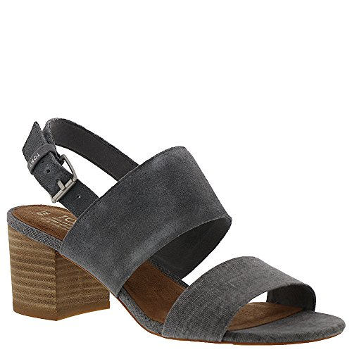 TOMS Women's Poppy Suede Sandal, Size: 8.5 B(M) US, Color: Shade (Linen Slingback)