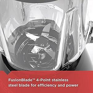 BLACK+DECKER Countertop Blender with 6-Cup Glass Jar, 10-Speed Settings, Black, BL2010BG