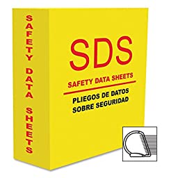 Aurora Products AUA13086 D-Ring MSDS-2 3.0 in. Binder, Yellow