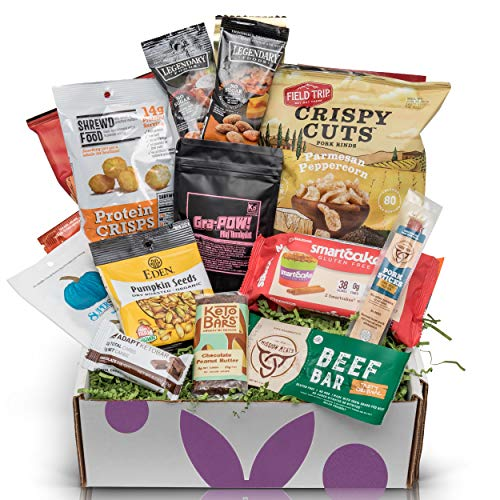Low Carb KETO Snacks Sampler Box: Assortment of Low Sugar High Fat Ketogenic Diet Snacks Keto Gift Care Package ()