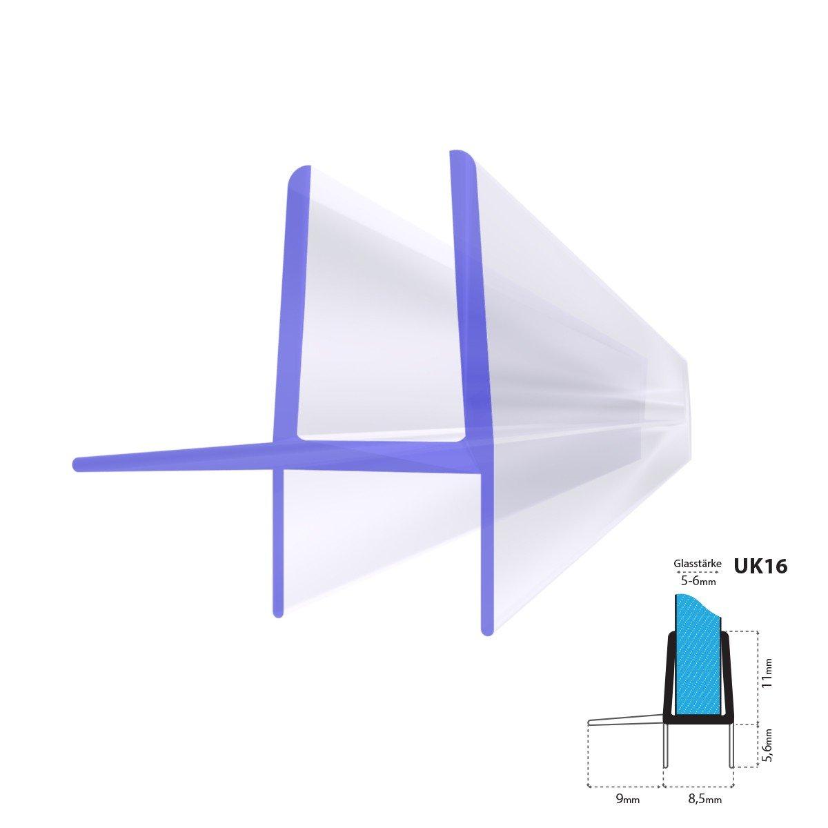 STEIGNER Duschdichtung, 60cm, Glasstä rke 5 mm / 6 mm, Gerade PVC Ersatzdichtung fü r Dusche, UK16 Jumbo Shop 51483693