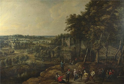 [Oil Painting 'Lucas Van Uden And David Teniers The Younger Peasants Merry Making Before A Country House' 30 x 44 inch / 76 x 113 cm , on High Definition HD canvas prints, Gym, Kitchen And Powd] (Animal House College Costumes Tshirt)