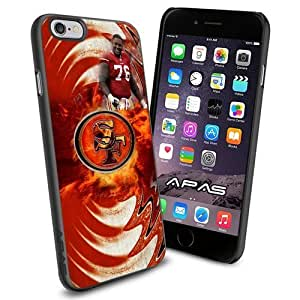 Anthony Davis of San Francisco 49ers Silicone Skin Case Rubber Iphone 6 Case Cover Black color
