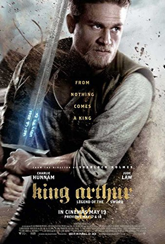 Pop Culture Graphics King Arthur: Legend of The Sword Movie Poster 11 x 17 Charlie Hunnam, Jude Law, F, Made in The U.S.A.