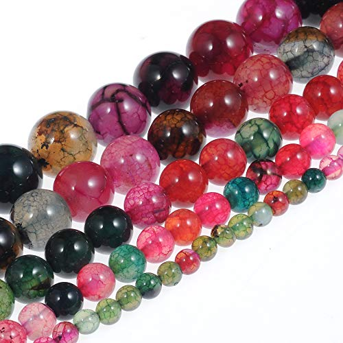 Stone Beads 10mm Multi-Color Tourmaline Gemstone Round Loose Beads Crystal Energy Stone Healing Power for Jewelry Making DIY,1 Strand 15