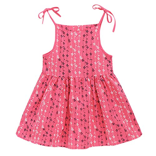 GorNorriss Baby Dress Toddler Kid Girl Solid Flower Striped Princess Party Dress Sundress