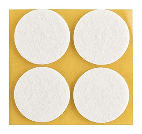 haggiy Patins de sol Patin en feutre 3,0 mm d/épaisseur /Ø 11 mm blanc 240 Pcs. auto-adh/ésif Standard