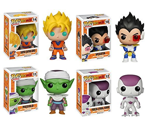 Funko Dragonball Z POP! Anime Vinyl Collectors Set: SS Goku, Vegeta, Piccolo, FF Frieza Action Figure by FunKo