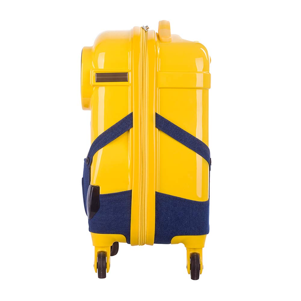 16 Despicable Me Minions 3D ABS Luggage Trolley Spinner Carryon Suitcase Travel Bag stripe suspender