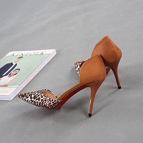 Heel Arbeiten Schuhe Stiletto High Leopard Court snfgoij Zehe Damen Print Pumpen Schuhe Sexy Geschlossene Sexy Ausschnitt twRxxASq
