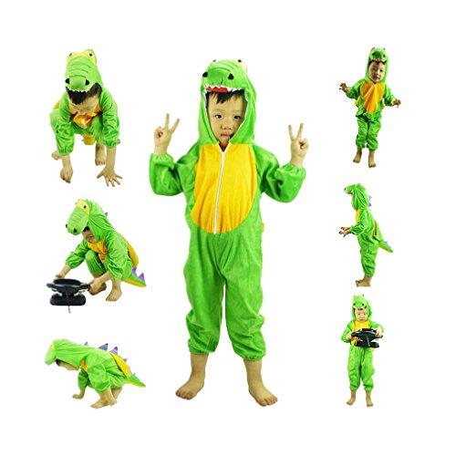 Cute 5 Year Old Halloween Costumes (Cute kids halloween cosplay homewear green dinosaur costume outfit animal loungewear)