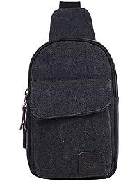 Leisure Men's Crossbody Bags Canvas One Shoulder Backpack Oblique Chest Pack Fashion Shoulder Bag