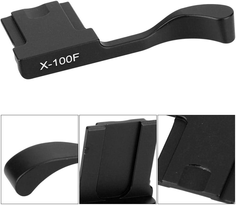 Aluminum Alloy Hot Shoe Thumb Up Hand Grip for Fuji X-100F X100T X-A5 Mirrorless Camera Pomya Thumbs Up Grip Black