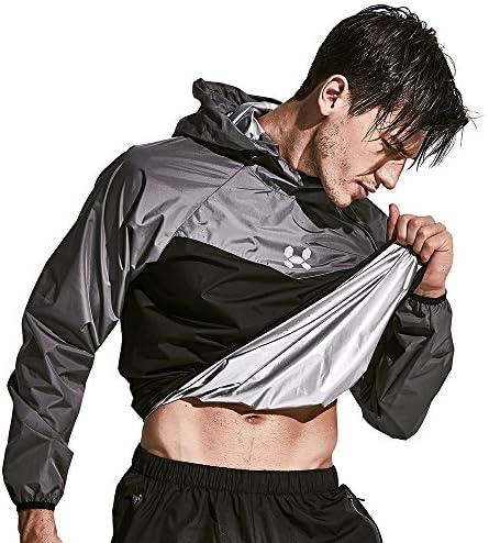 HOTSUIT Sauna Suit Men Boxing Weight Loss Gym Sweat Suits Workout Jacket