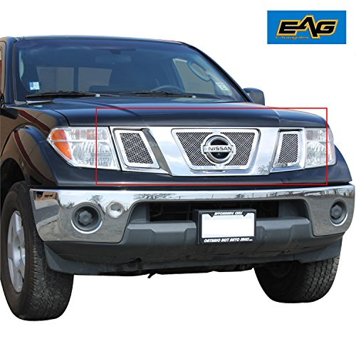 EAG Chrome Stainless Steel Wire Mesh Grille for Nissan Frontier / Pathfinder