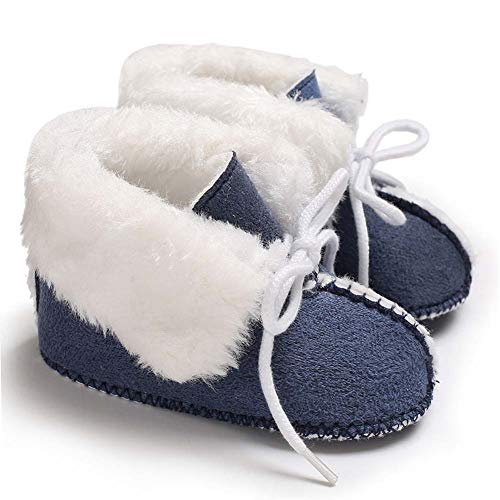 Pictures of Fnnetiana Baby Soft Sole Anti-Slip Winter Blue 1